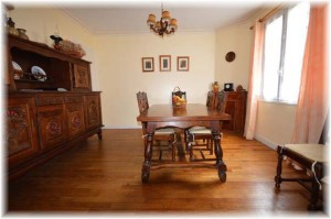 Dining room furnished with Breton furniture.