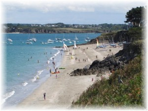 Sandy beaches with water sports activities near our gite