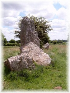 Standing stones close to our gite